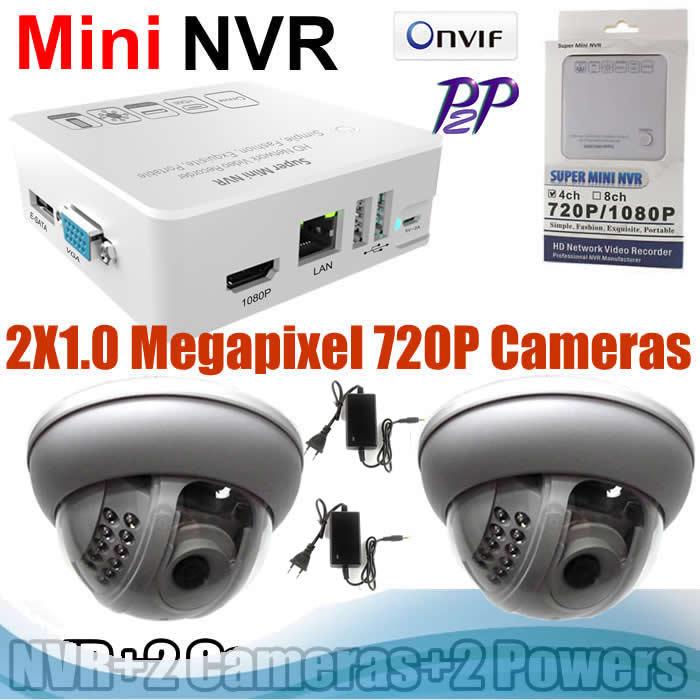 ONVIF CCTV HDMI NVR KITS 720P ip cameras 22pcs IR leds Surveillance System(China (Mainland))