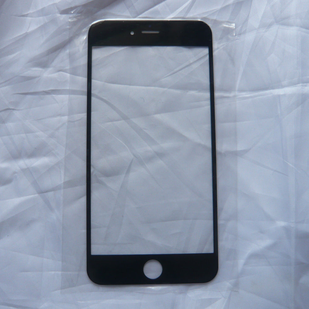 New Black Front Screen Outer Glass Lens Repair Replacement