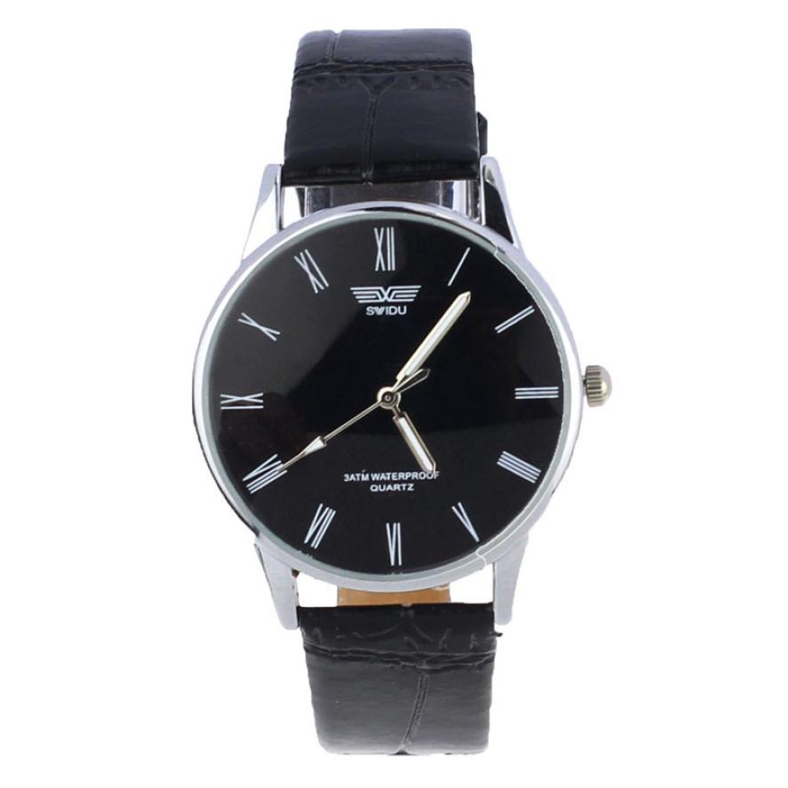 Best Sale Montre Men's Quartz Wrist Watch Relogio Masculino Luxury Brand Leather Roman Numerals Dial Watches Men Business Watch(China (Mainland))