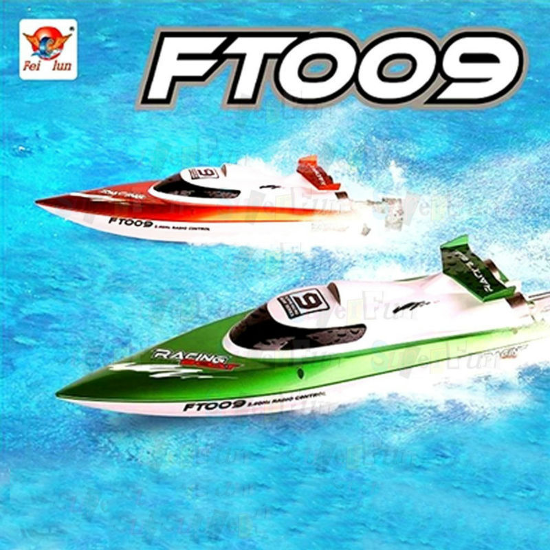 FT009 RC Boat Brushless Motor Boat Remote Control High Speed Racing Boat with Water Cooling System 2.4GHz 4CH 30KM/H(China (Mainland))