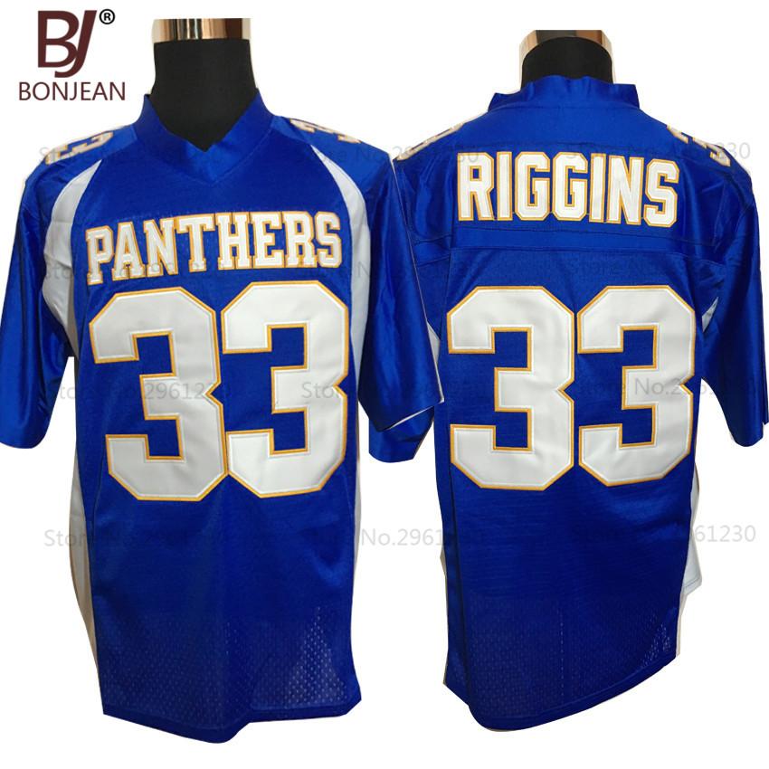 BONJEAN Mens Friday Night Lights Tim Riggins 33 Dillon High School Jersey Cheap Embroidery Blue American Football Jerseys(China (Mainland))