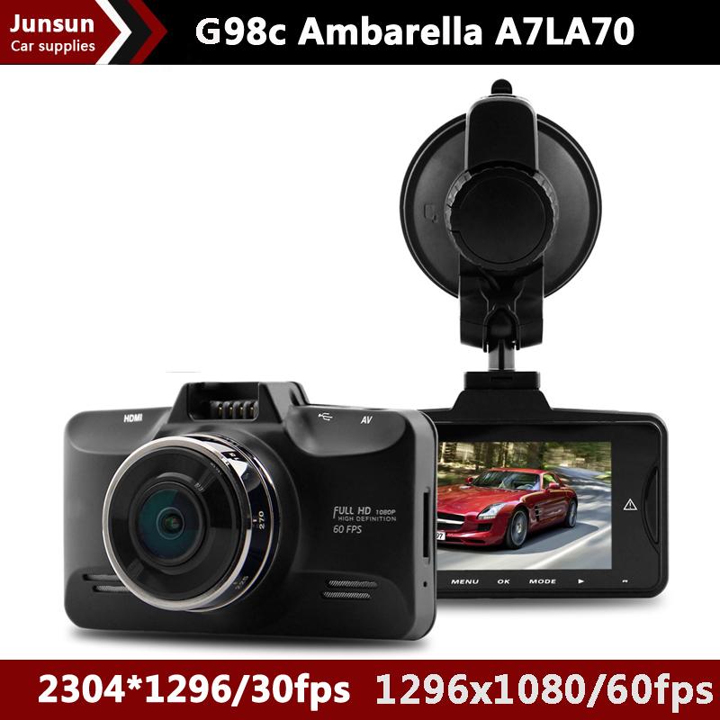 Автомобильный видеорегистратор Junsun Ambarella A7LA70 GPS 2.7 OV4689 1296P /30FPS G HDR