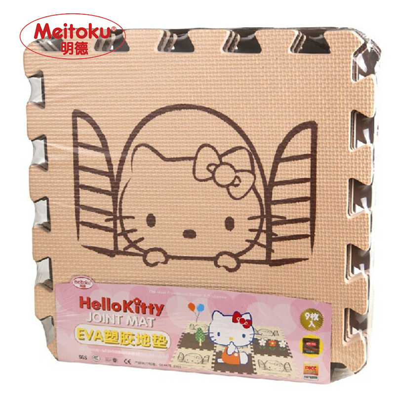Meitoku baby play EVA foam puzzle mat /Cartoon EVA foam pad / Interlocking Mats for kids30X30cm 1cm Thick 9pcs/set(China (Mainland))