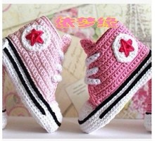 Handmade yarn knitted baby shoes kilen baby soft sole shoes toddler shoes socks 20130612 – 08