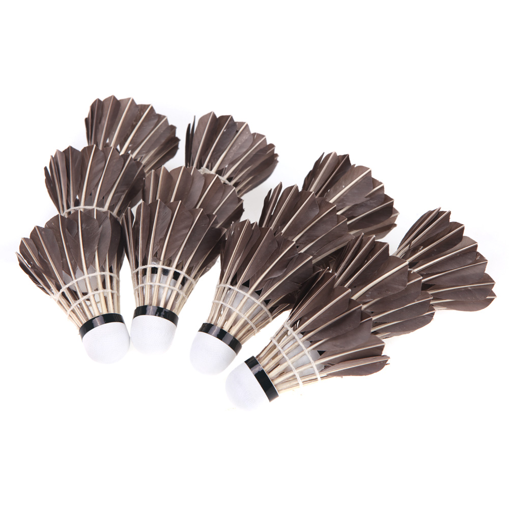 New Arrival 12PCS Black Shuttlecocks Badminton Goose Feather Cork Outdoor Sports Accessories(China (Mainland))