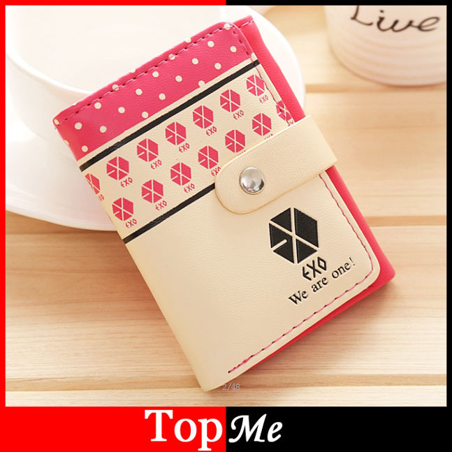 Women Wallet Short Hasp Lady Purse Cards Photo Holder EXO Letters Brand Clutch Woman Wallets Money Bags Burse Carteira Feminina<br><br>Aliexpress