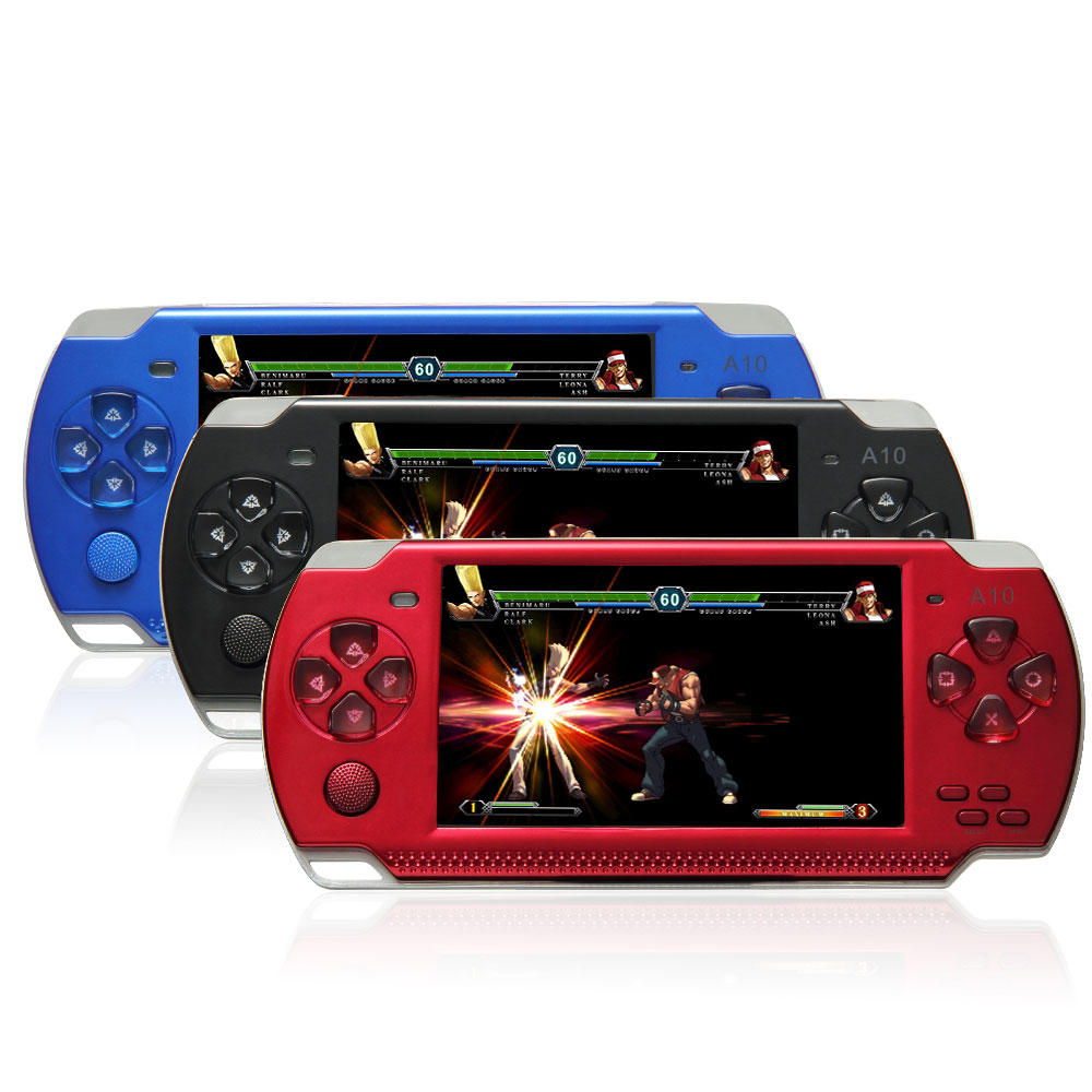 32 Bit 4.3 Inch Handheld Game Player Game Console 4G MP5 Game Player 3.0MP Camera 100 Kinds Games Russia 1000mAh Battery(China (Mainland))