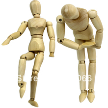 8 inch joints wood Wooden mannequin toy / wooden puppet / wooden manikin Home Decoration Model,Painting sketch  Free shipping(China (Mainland))