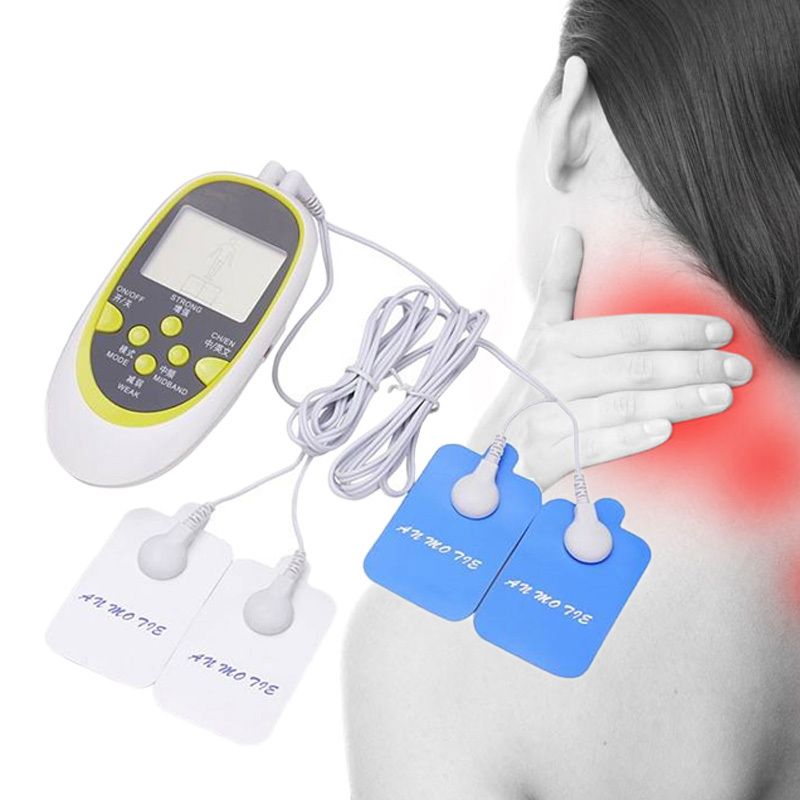 Digital Dual Output Electronic Physiotherapy Acupuncture Massager Neck Traction Neck Massage(China (Mainland))