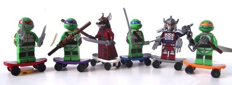 TMNT 6 Pcs Set Teenage Mutant Ninja Turtles Action Mini Figures Building Toy New Kids Gift Free Shipping(China (Mainland))