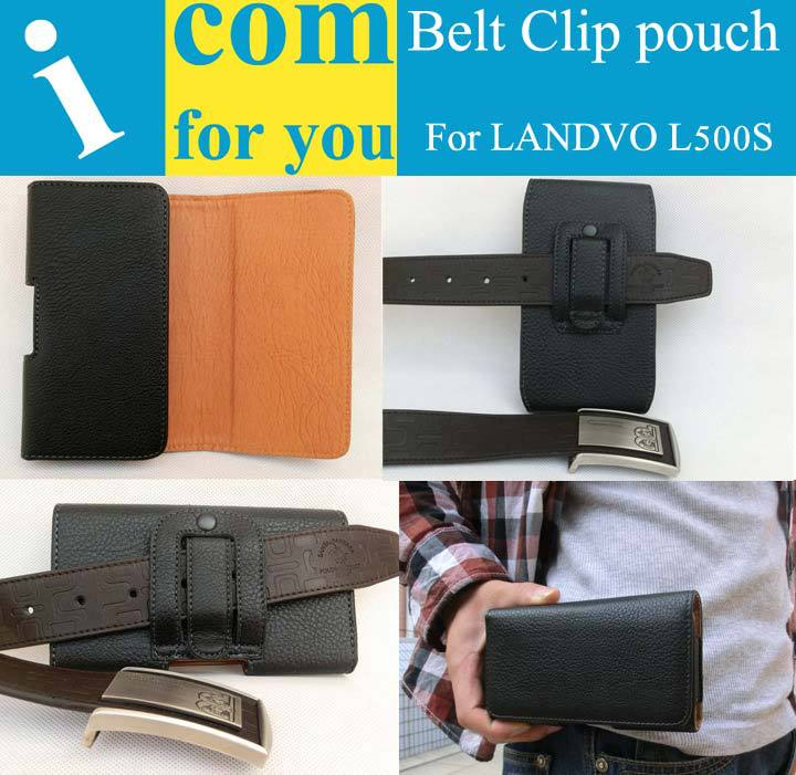 Holster Clip Belt Leather case cover for LANDVO L500S L500 L550 L200G L600S S6 L900 L6 Mlais M9 Kingzone N5 Coque Funda Capinha