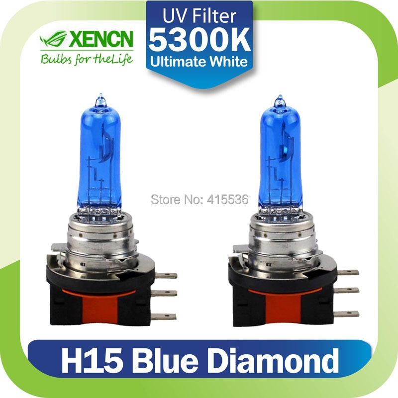XENCN H15 12V 55/15W 5300K Blue Diamond Light Xenon Ultimate White day time running light for Audi Volkswagen Golf Jetta(China (Mainland))