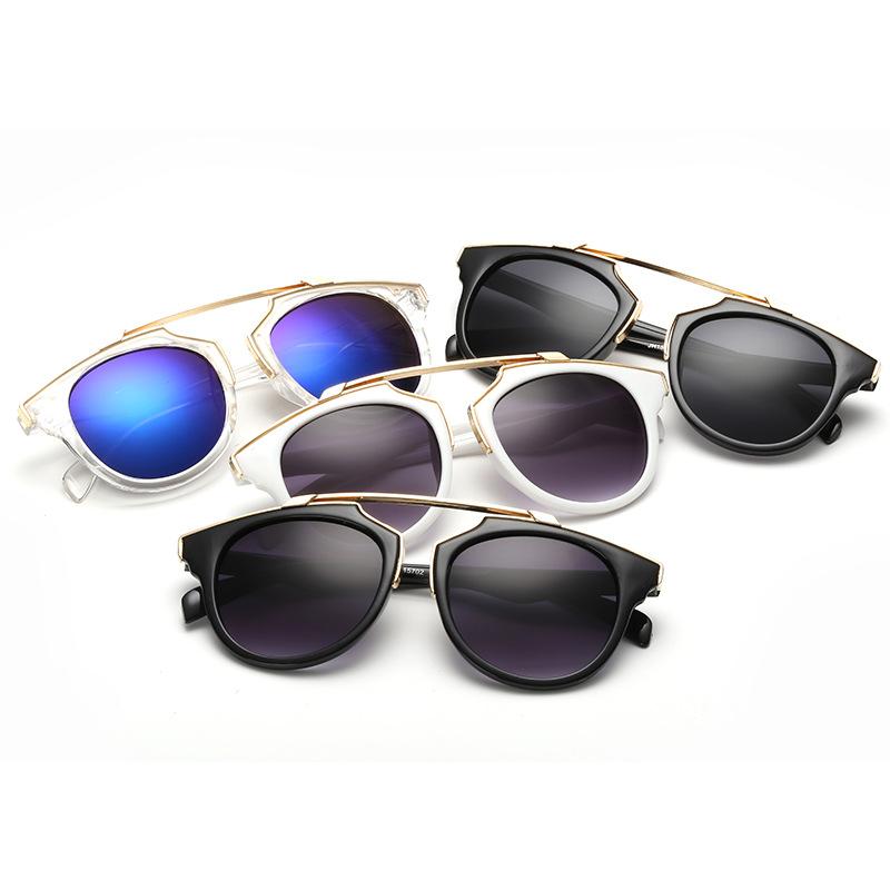 HEEVOO 2016 popular women brand designer sunglasses round mirrored shades cat eye glasses(China (Mainland))