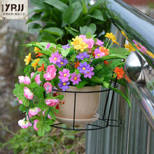 However, simple small household C excellent storage Iron Hanging flower metal flower outdoor terrace bar theft(China (Mainland))