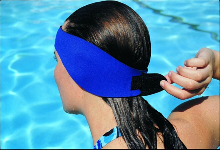 New Unisex Headband For Kids And Adults Baby Girl Headbands Pink/Blue Waterproof Swimming EarBand Wholesale And Retail Q1345(China (Mainland))