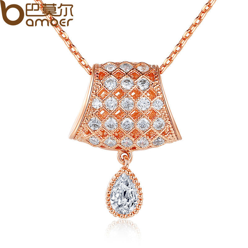 Fashion 18K Gold Plated Necklaces Pendants Surround AAA Cubic Zircon For Lady Birthday Gift SDSN039(China (Mainland))