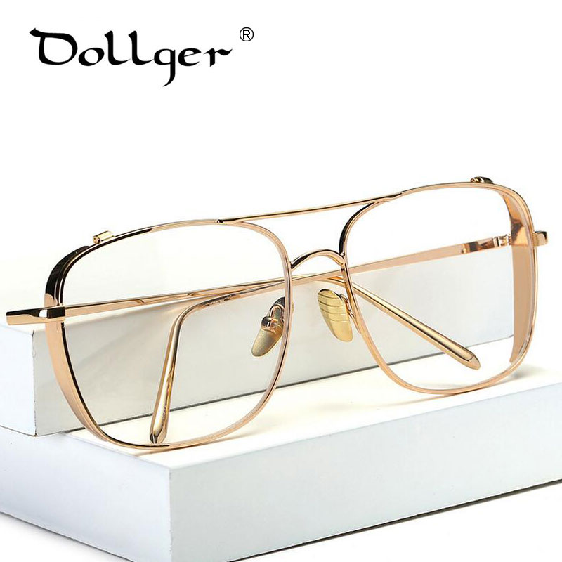 Dollger Eyeglass Frames Men Big Metal Computer Goggles Anti Fatigue Radiation-resistant Glasses Frame Women Eyewear s1293