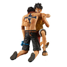 Newest Anime One Piece DRAMATIC SHOWCASE Luffy Ace 5th Season vol.1 PVC ONE PIECE Action Figure Collectible Model Toy