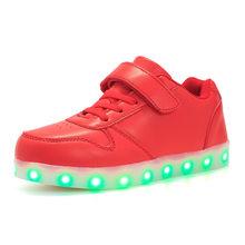 גודל 25-37 USB טעינה ילדי בני נעליים עם בלעדי Enfant Led אור זוהר זוהר סניקרס בנות נעליים ילדים Led נעליים(China)