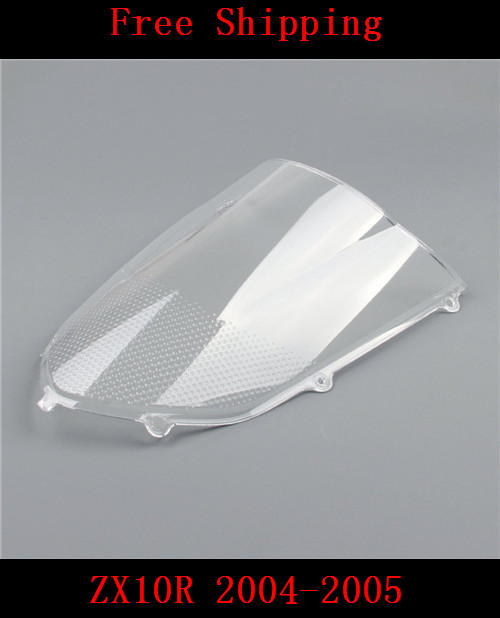 For Kawasaki ZX10R 2004-2005 ZX-10R motorcycle Double bubble windshield windscreen White(China (Mainland))