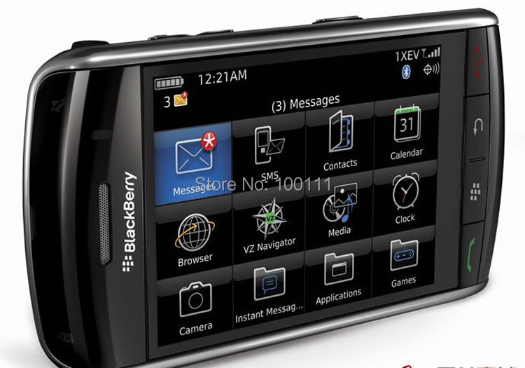 Original Blackberry Storm 9500 Mobile Phone , 3.2MP Camera Touch screen cell Phone,black, ,Free Shipping(Hong Kong)