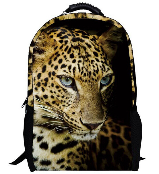 Fashion 3D American cheetah printing bag woman laptop Backpack man mochilas femininas school cute book bags for teenagers boys(China (Mainland))