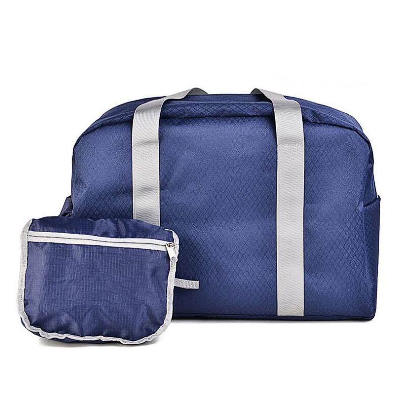 Folding Bag Nylon Waterproof 2016 Travel Women Weekend Bag Luggage 18.5x12.2x8.86 Inch Travelling X096(China (Mainland))