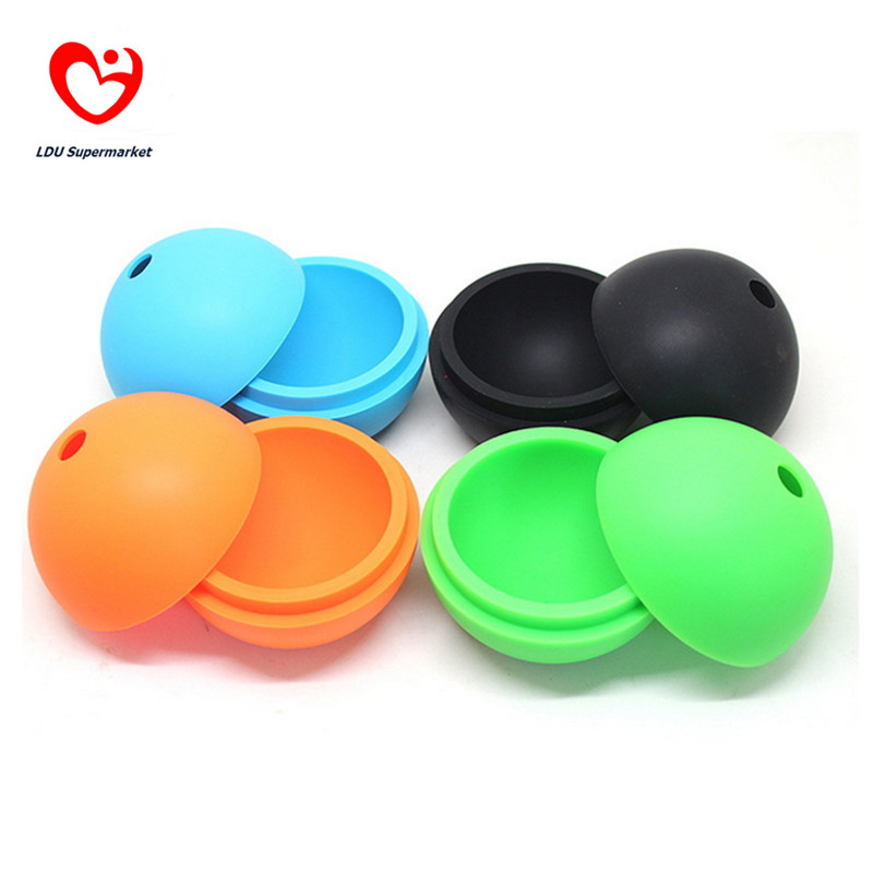 Sphere Silikon Mold Ice Cream Cube Ball Silica Gel Maker Molds Silicone Balls Container Kitchen Tools Accessories Popsicles Tool(China (Mainland))
