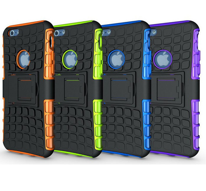 Heavy Duty Strong Silicone Cover shockproof cellphone case soft PC+TPU protector case For iphone 4 4s 5 5s 6 6s plus(China (Mainland))