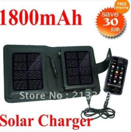 Free Shipping for Solar Power 1800mAh Battery Charger for Mobile Phone 4 4G 4S S+Free Gift hot!