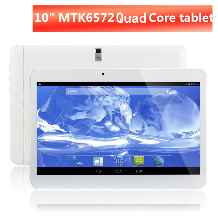 10 inch Android 4.4 3G Phone Call Tablet PC MTK6572 dual Core1024*600 Dual SIM /Camera 512MB/8GB Bluetooth OTG FM GPS WIFI(China (Mainland))