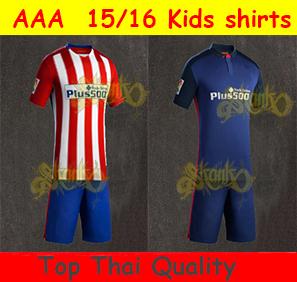 New 2015- 2016 Thai quality Madrid Kids home Kids kit 2016Madrid away GABI GRIEZMANN ARDA KOKE kids Soccer Jersey(China (Mainland))