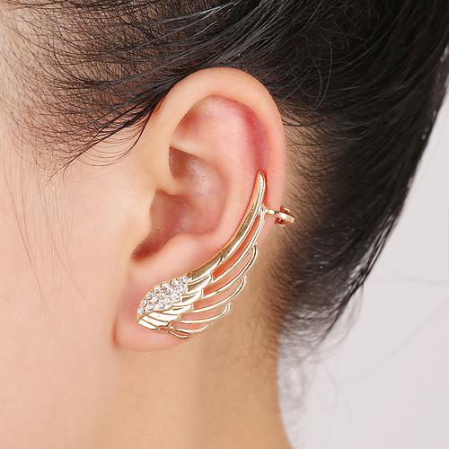 European and American Fashion Personality Tide Zinc Alloy Wings Vintage Clip Earrings Wholesale E10206 E10207(China (Mainland))