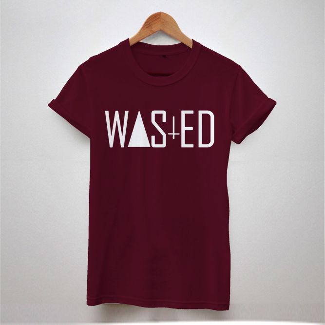 2015 Fashion Men T Shirts Wasted Shirt Rock And Roll Band