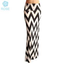 2015 New Women Long Skirts Fashion 6 Colors Pattern Striped Pencil Skirt Casual Plus Size Package Hip Saias Femininas Longa 8056(China (Mainland))