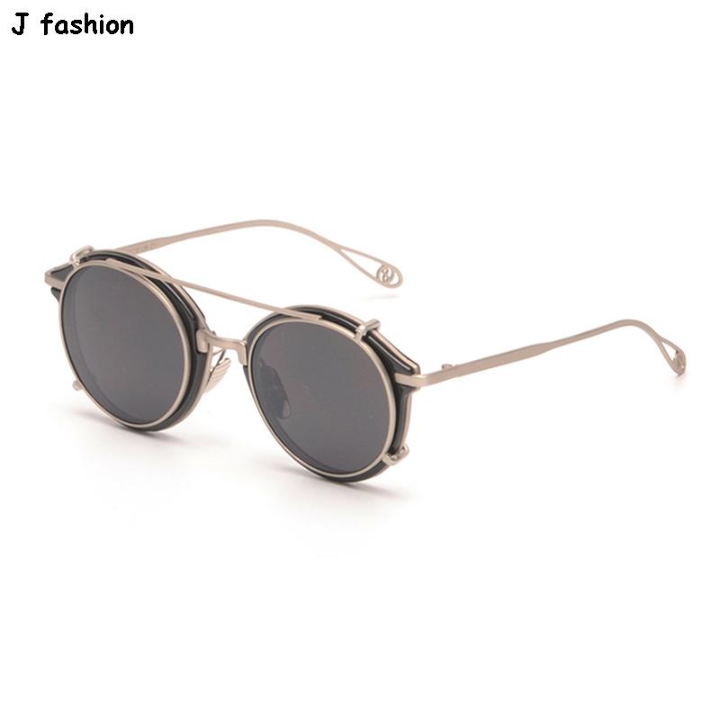J fashion 8915 women prescription sunglasses clip on glasses mirror two lens unisex eyewear lunette de soleil zonnebril oculos(China (Mainland))