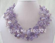 Beautiful!4row natural ametrine necklace -turquoise+free shippment(China (Mainland))
