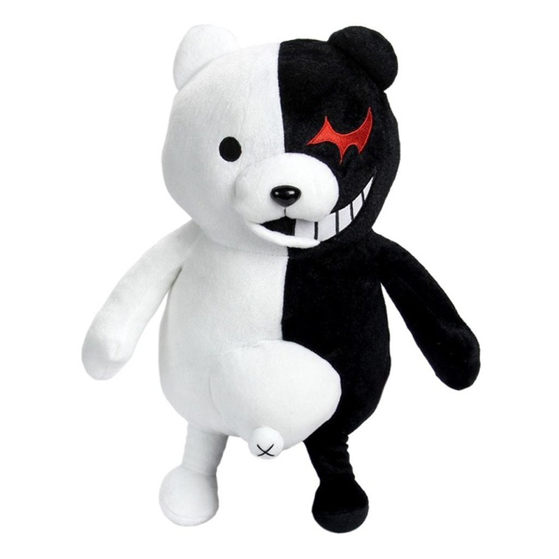 25cm Cute Cartoon Dolls Dangan Ronpa Monokuma Doll Plush Toys Black White Bear Top Quality Kids Toys Child Birthday Present(China (Mainland))