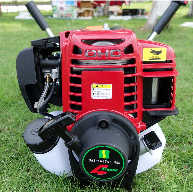 140 four-stroke lawnmower Knapsack grass cutting machine rice lawn mower gasoline engine(China (Mainland))