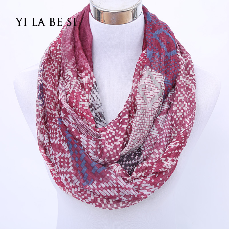 2016 New loop Designer Brand Fashion Infinity Scarfs Winter Warm Small Plaid Woman Tube scarf font