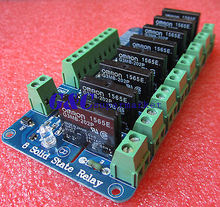 250V 2A 8 Channel OMRON SSR G3MB-202P Solid State Relay Module(China (Mainland))