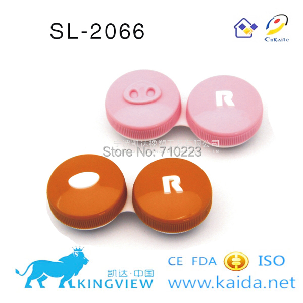 SL-2066 animal lenses case/Eye Contact Box For Contact Lens(China (Mainland))