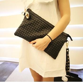 2015 new fashion brand bag women leather handbags envelope clutch vintage small messenger bags wholesale , free shipping Q848