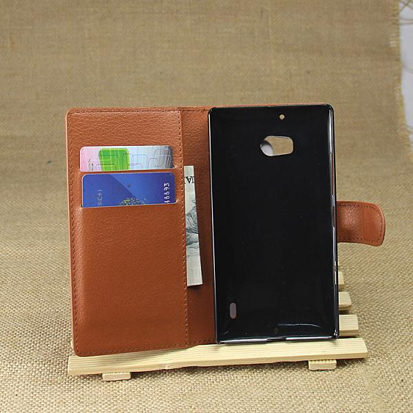 Free Shipping Lumia 929 Wallet Case PU Leather Case for Nokia Lumia 929 Flip Book Style Leather Case Card Slot(China (Mainland))