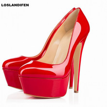 Buy Large Size 42 Patent Leather Shoes Woman High Heels Sexy Wedding Shoes Women Pumps 14cm Candy Color Ladies Shoes High Heel for $38.99 in AliExpress store