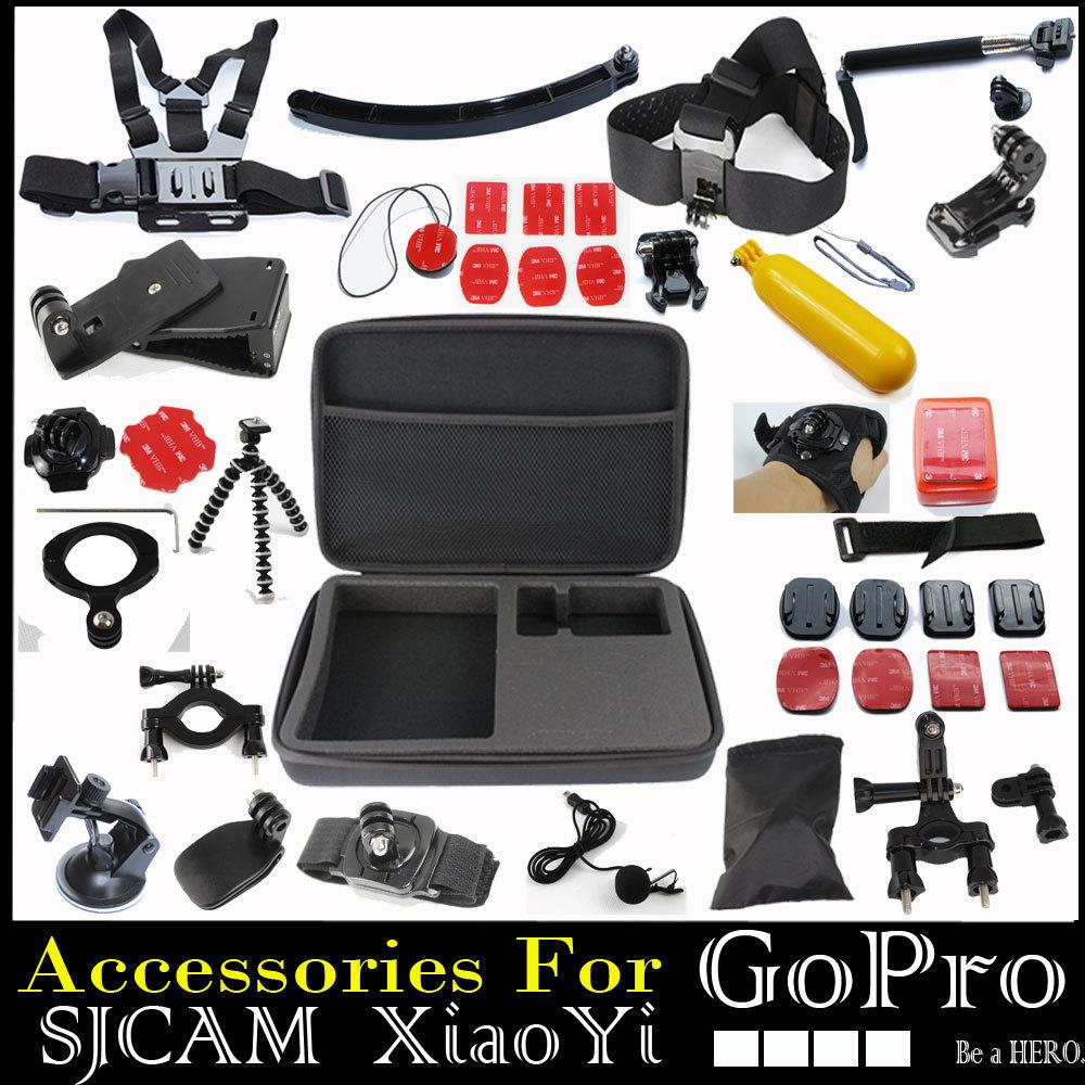Gopro Accessories Set Hero 4 Sj4000 Kit Chest Belt+Head Band+Wrist Strap+Floating Bobber Monopod Go pro hero3 3+ 4 Camera Mount(China (Mainland))