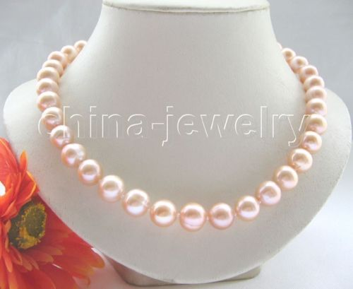 Wholesale price 16new ^^^^Luster 17.5 12mm pink round freshwater pearl necklace-14k gold clasp<br><br>Aliexpress