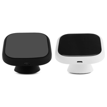 Black/White QI Wireless Charging Pad Mount Dashboard Phone Holder