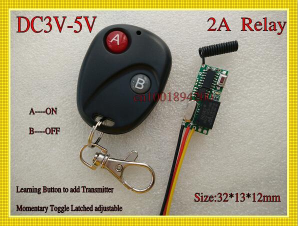 Коммутатор DC3V 3.6V 3.7V 4.5V 5V Learning315/433 DC3V-5V Relay-BKAB