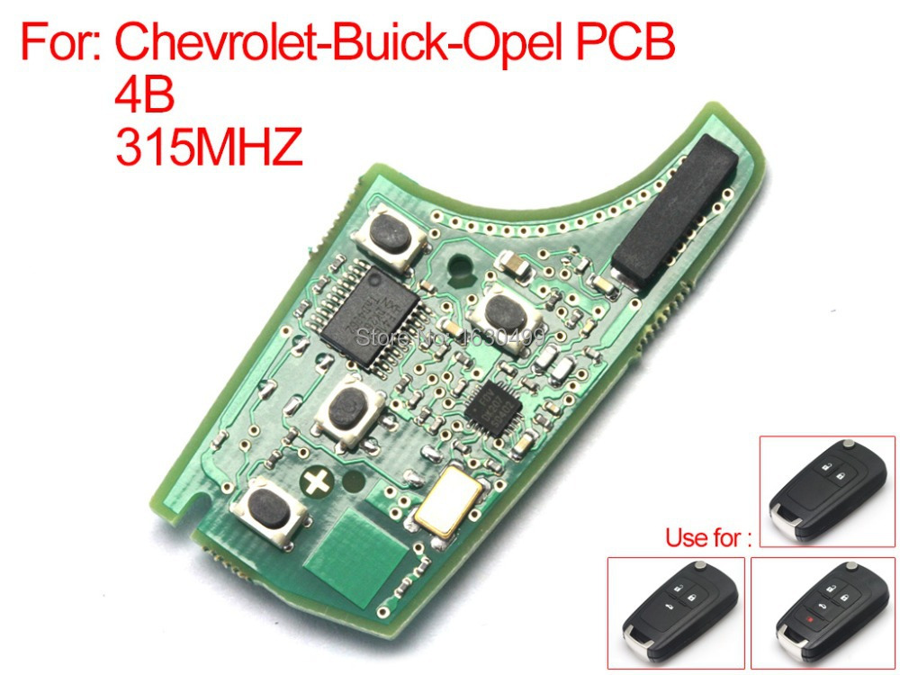 Auto Remote key, High Quality remote board 4 buttons 315MHZ for Opel Chevrolet Buick (es285001) Free shipping(China (Mainland))